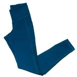 Old Navy Active Mesh Panel Leggings Blue Green S